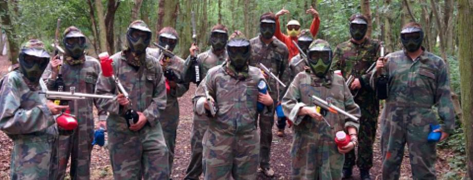 Paintballing in Wigston